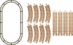 oval train track set