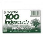 recycled index cards